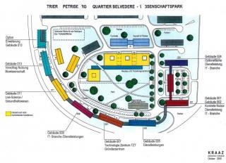 Wissenschaftspark Übersichtsplan 2000