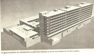 Computeranimation des Umbaus französisches Hospital