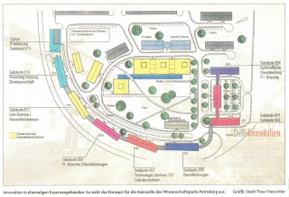 Konzept für die Keimzelle des Wissenschaftspark Petrisberg