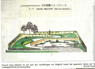 Entwurf des Gartens von Suzuki