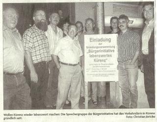 Foto anlässlich Gründung Bürgerinitiative