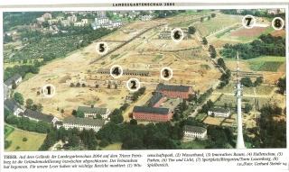 Luftfoto mit Erläuterungen zum Ausbau