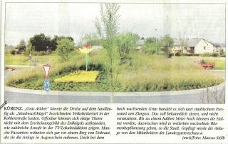 Verkehrskreisel Zufahrt Landesgartenschau