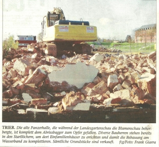 Abriss Panzerhalle nach Ende LGS