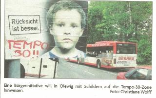 Bürgerprotest Tempo 30 Olewiger Straße