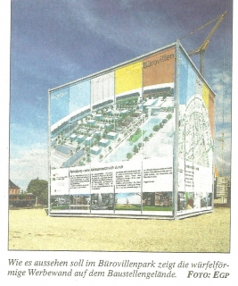 Informationscubus zum Bürovillenpark