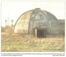 Betonkuppel – später nach LGS abgerissenBetonkuppel – später nach LGS abgerissen